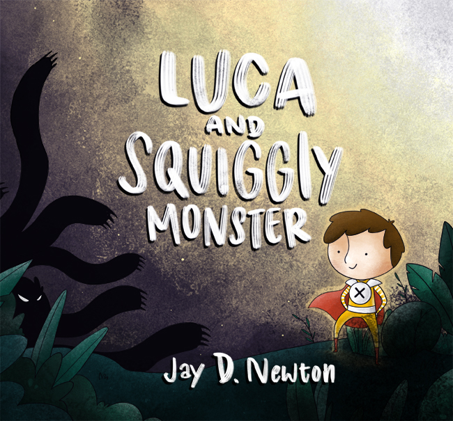 Luca and Squiggly Monster